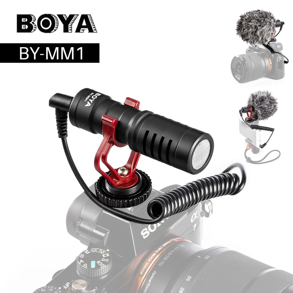 Камера BOYA BY-MM1, видео микрофон, дробовик, микрофон для Zhiyun Smooth 4 DJI OSMO DSLR камеры iPhone 7 6 Andriod смартфона