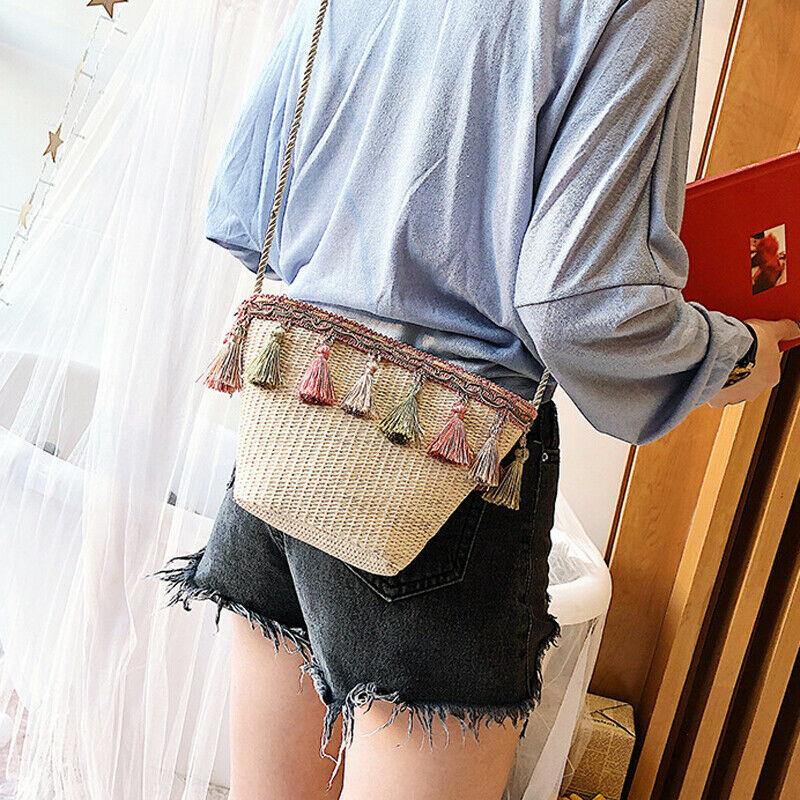 Summer Crossbody bags for Women tassels Cute Cross body Shoulder Bag Elegant Purse Girl Handbag clutch Ladies Moeny Hand bag