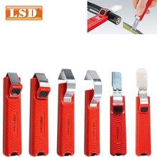 Couteau à dénuder PVC/silicone/caoutchouc/PTFE diamètre 4-50mm câble couteau dénudeur Mini électricien couteau dénudeur