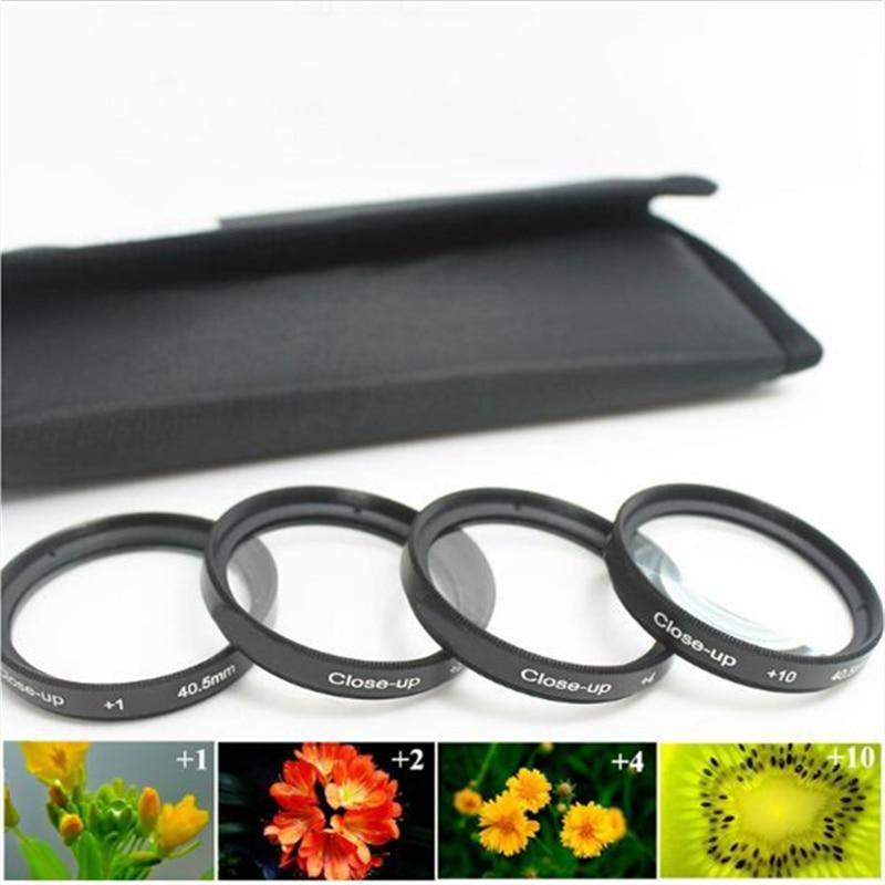 37 40,5 43 46 49 52 55 58 62 67 72 77 82mm + 1 + 2 + 4 + 10 + bolsas lente Primer plano Macro Kit filtro para Pentax Sony Canon Nikon