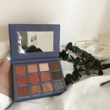 Marque 12 couleurs Pigment paillettes mat ombre à paupières Palette brillant maquillage ombre Durable couleur nue étanche cosmétiques