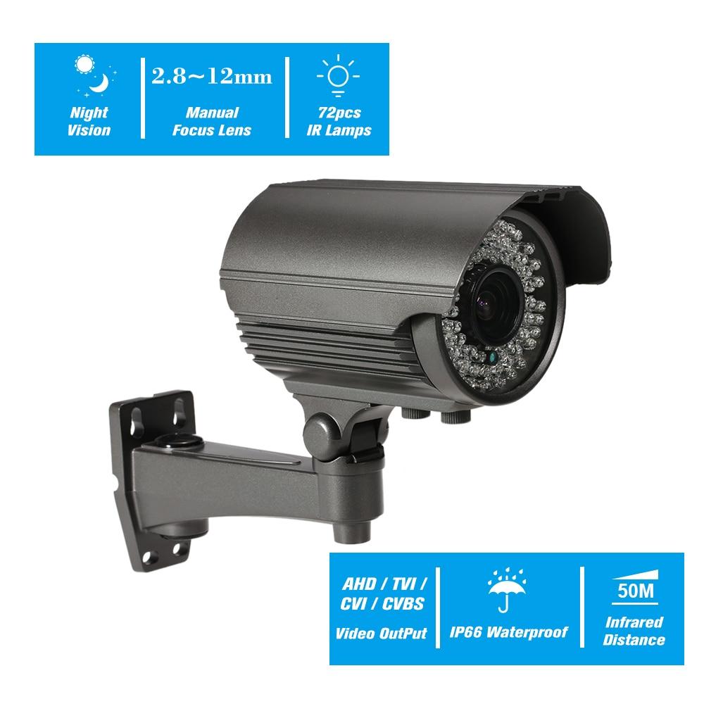 Lente Varifocal AHD de 4MP, bala IR, CCTV, cámara analógica, IR-CUT, visión nocturna, lámparas infrarrojas, impermeable, interior, exterior, seguridad
