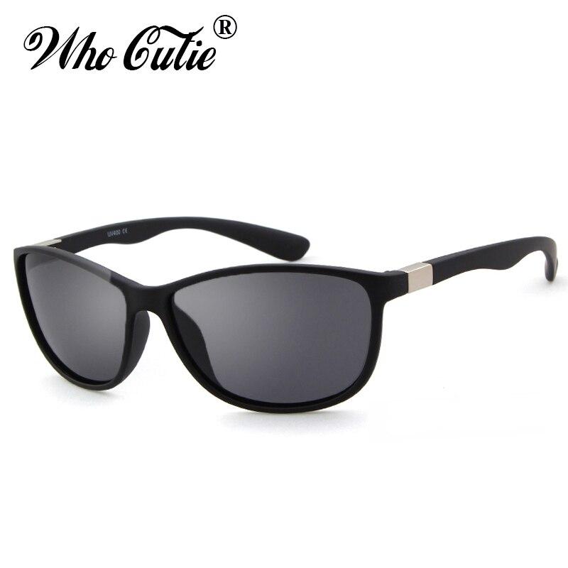WHO CUTIE 2018 Cool Men Polarized Sunglasses Retro Vintage Square Frame Sport Driving Sun Glasses BLACK Shades Male oculos OM346