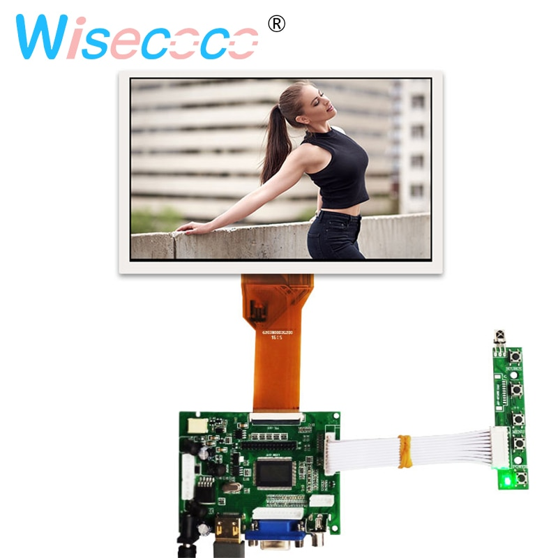 7 polegada tela de LCD com painel de Controle Remoto bordo motorista AT070TN94 para Raspberry Pi 3B Laranja Pi