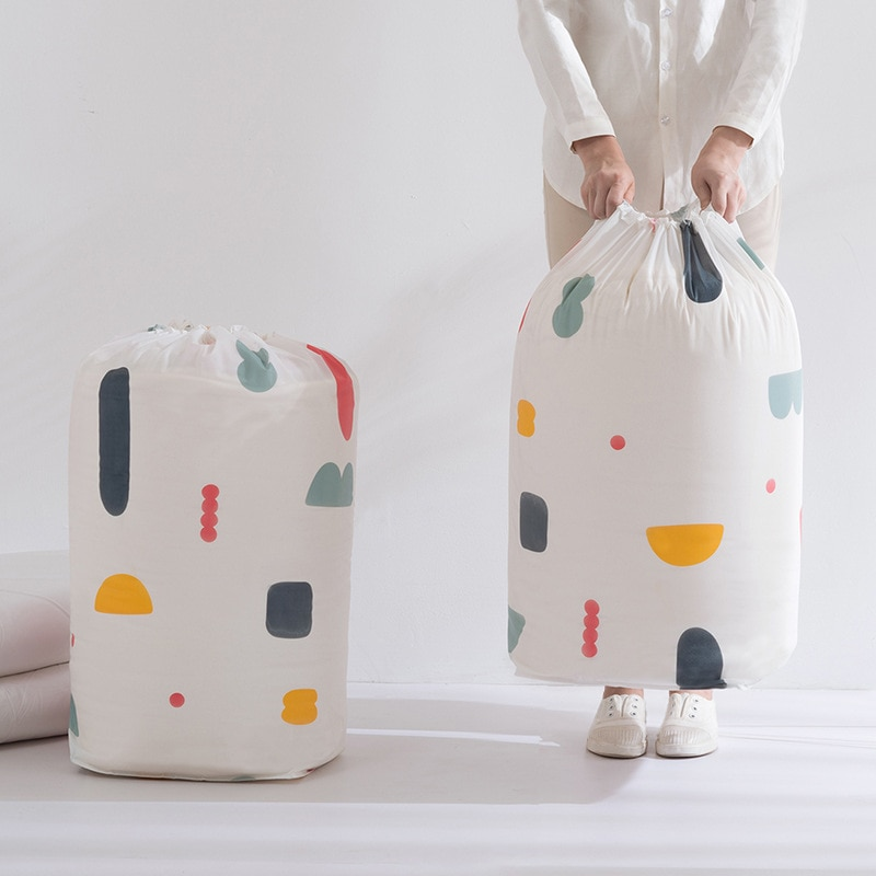 Bolsa de almacenamiento organizadora de ropa, colcha doméstica, bolsa de almacenamiento con cordón, almacenamiento de juguetes para bebé, bolsas de Material PEVA a prueba de agua