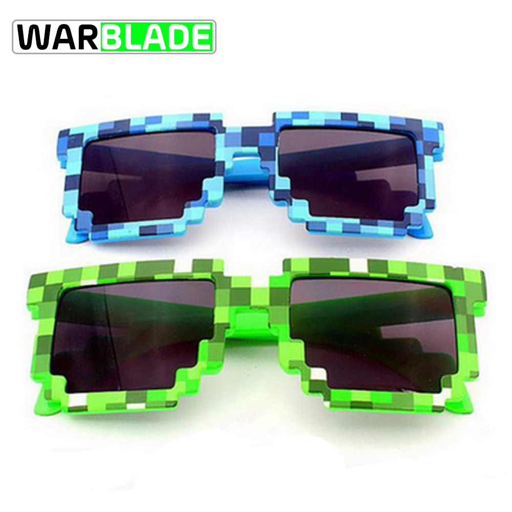 WarBLade Kids Sunglasses Smaller Size  Sunglasses Mosaic Boys Girls Pixel Eyewares Novelty Children