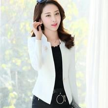 J61252 White Colorful New Fashion Women Blazer Casual Suit Jacket