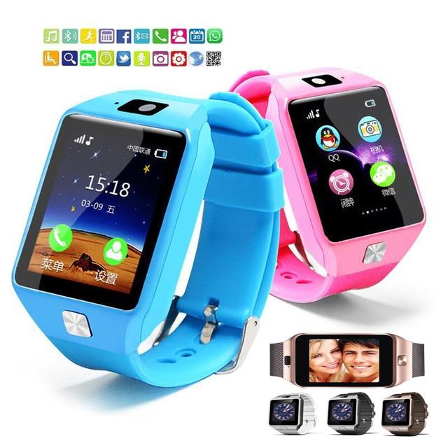 Moda DZ09 Reloj Inteligente Apoyo TF Tarjetas SIM Para Android IOS Niños Cámara Mujeres Reloj Bluetooth Del Teléfono Con la Caja Al Por Menor rusia