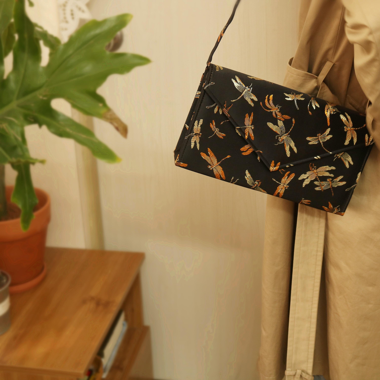 Bolsos De Mujer Retro libélula bordado con asa bolso de hombro tipo bandolera de gran capacidad Bolsa De sobre Bolsa femenina