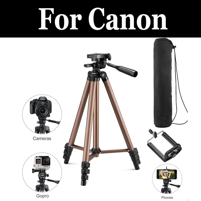 Trípode profesional cámara Digital inclinación Pan cabeza portátil ligero para Canon Eos 1100d 1200d Eos Rebel T3 Eos Kiss X50 x70