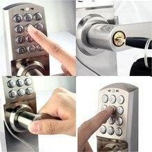Digital Keypad Door Lock with Backup Round Key Locker Electronic Entry by Password Code Combination Password + Key OS7717