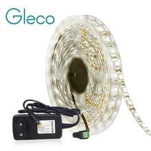 Blanc neutre 4000K LED lumière de bande 5050 60 LED/m 5M DC12V 5050 LED lumière de jour de bande avec lalimentation 12V