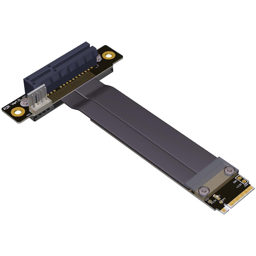 M.2 NGFF NVMe M clave 2280 Riser Card elevador PCIe x4 3,0 PCI-e 4x Gen3.0 Cable M2 clave-M PCI-Express Cable de extensión 32G/bps