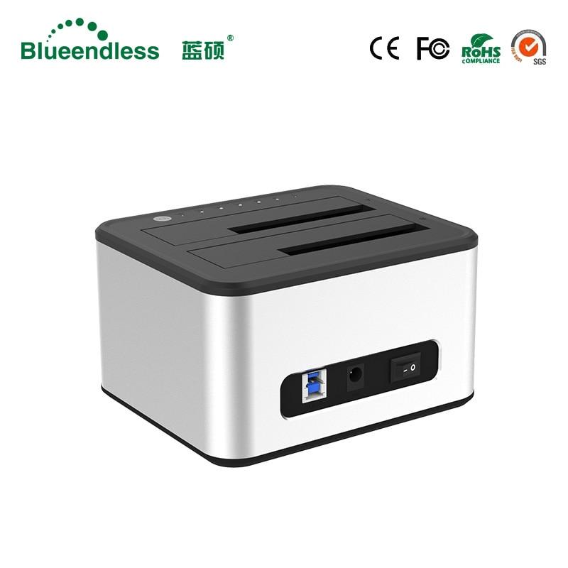 Алюминиевый внешний жесткий диск 6 ТБ hdd box 2,5/3,5 USB 3,0 hdd док-станция sata к usb hdd dock 2,5 hdd case