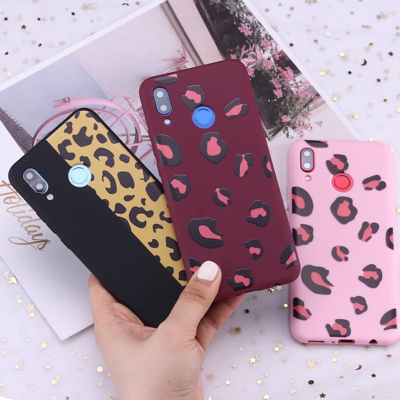 Für Huawei Honor Mate 10 20 Nova P20 P30 P40 P Smart Leopard Print Rosa Sexy Candy Silikon Telefon Fall abdeckung Capa Fundas