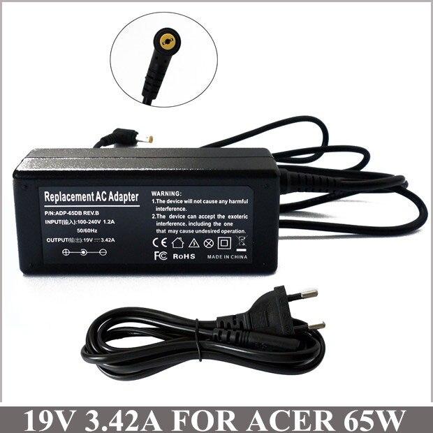 19V 3.42A 65W AC адаптер Зарядное устройство для ноутбука Разъем для Acer Iconia W500 Aspire One AOD150 AOD270 D270 AOHAPPY2 4620 5670-6930
