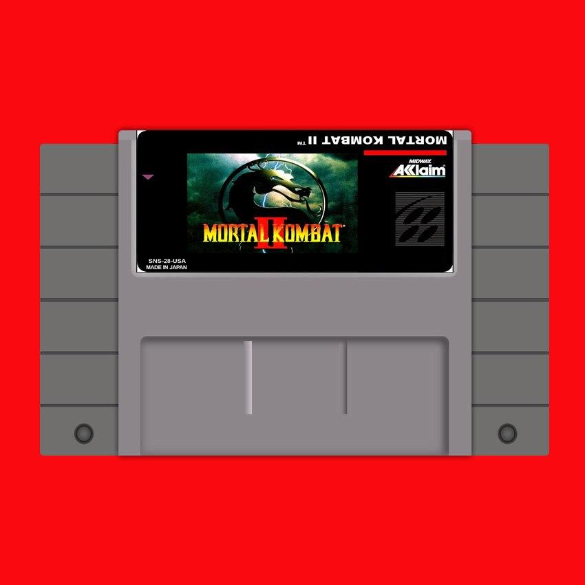 Mortal Kombat II (MK 2) 16 bit Big Gray Game Card For USA NTSC Game Player
