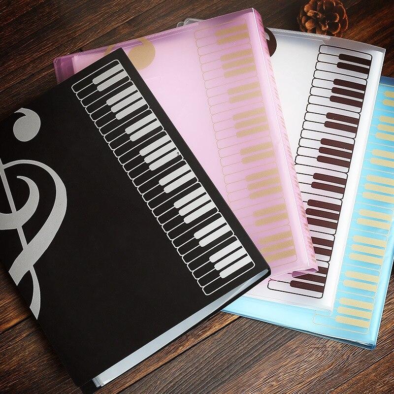 80 seiten A4 Klavier Papier Blätter Dokument Datei Veranstalter Ordner Fünf-linie Clip Musik Punktzahl