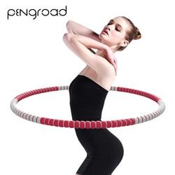 Frauen Sport Hoop Zerlegbar Gymnastik Hoop Für Fitness Dame Taille Übung Bauch Massage Hoop Indoor Fitness Ausrüstungen