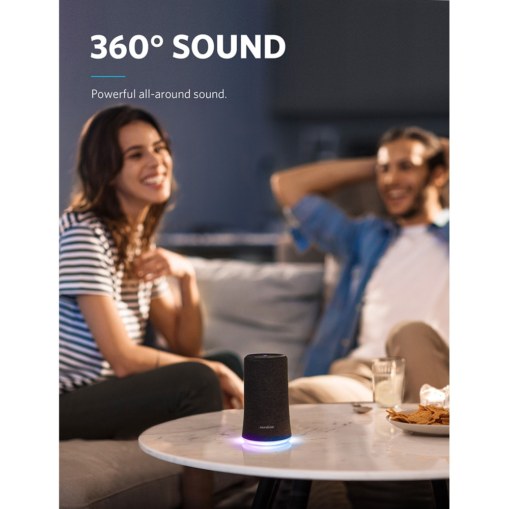 Anker Soundcore Flare Portable Bluetooth 360' Speaker with All-Round Sound Enhanced Bass Ambient LED Light IPX7 Waterproof enlarge