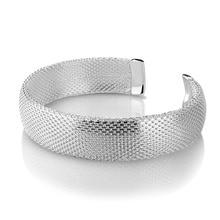 New design fashion women sterling silver bracelet.Personality woven mesh bracelet.Solid 925 silver bracelet.Charming  jewelry