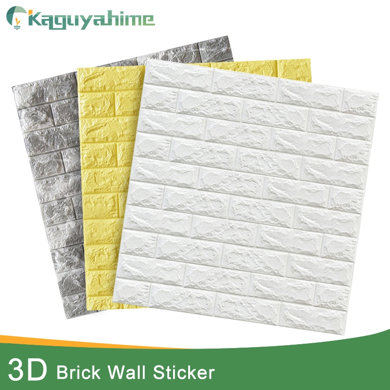 Kaguyahime 3D Brick Wall Stickers DIY Decor Self-Adhesive Waterproof Wallpaper For Kids Room Bedroom 3D Wall Sticker Brick