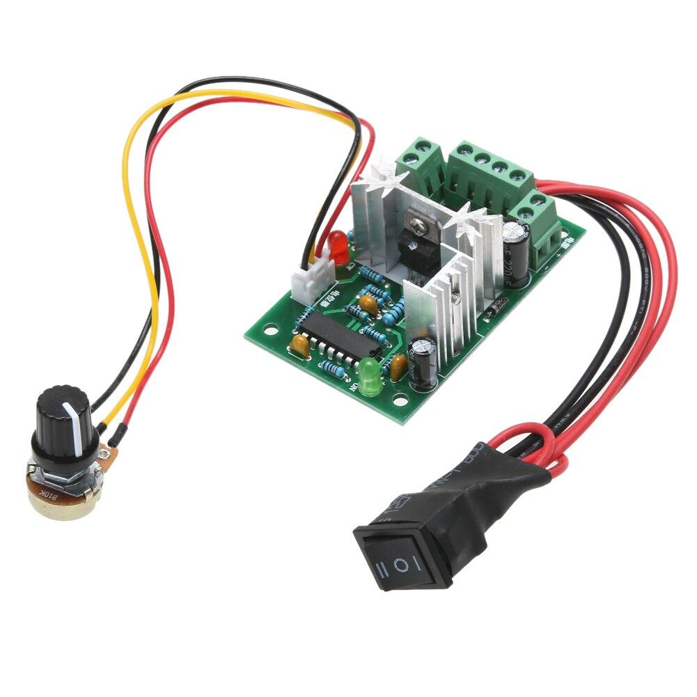 DC 10V 12V 24V 30V 120W PWM controlador de velocidad del motor de CC de voltios ajustable CCM2 interruptor regulador