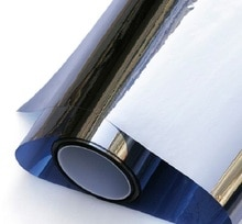 Dark Blue Silver Mirror Window Film Insulation Solar Tint Stickers UV Reflective One Way Privacy Decoration For Glass