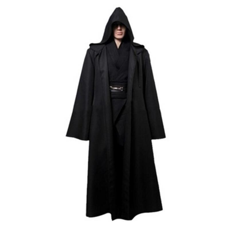 1 Pc Nieuwe Darth Vader Terry Jedi Zwart Gewaad Jedi Knight Hoodie Mantel Halloween Cosplay Kostuum Cape Voor Volwassen 821003
