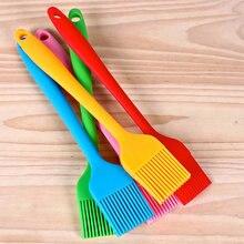 6 farben Silikon Pinsel Backen Backformen Brot Kochen Pinsel Gebäck Öl Nicht-stick BBQ Basting Pinsel Werkzeug Beste Küche gadget