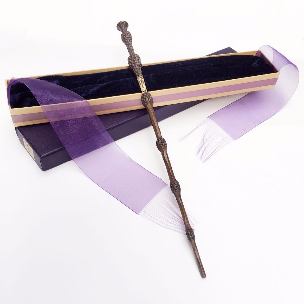 Colsplay nueva llegada Metal/núcleo de hierro Albus Dumbledore varita Antigua/varita mágica/elegante cinta regalo caja embalaje
