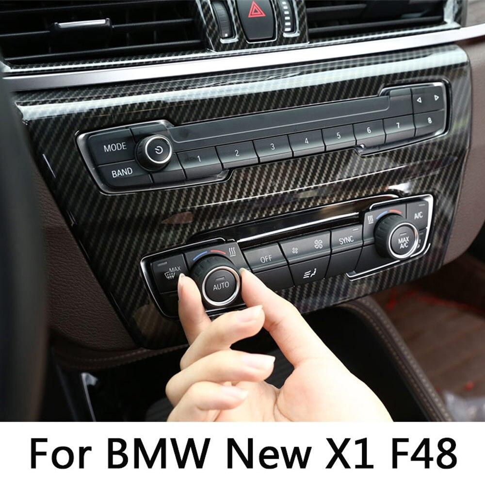 Углеродное волокно для BMW new X1 F48 20i 25i 25l 2016-2019 ABS центр AC выход вентиляционное отверстие крышка отделка автомобильные аксессуары для BMW X2 F47 2018