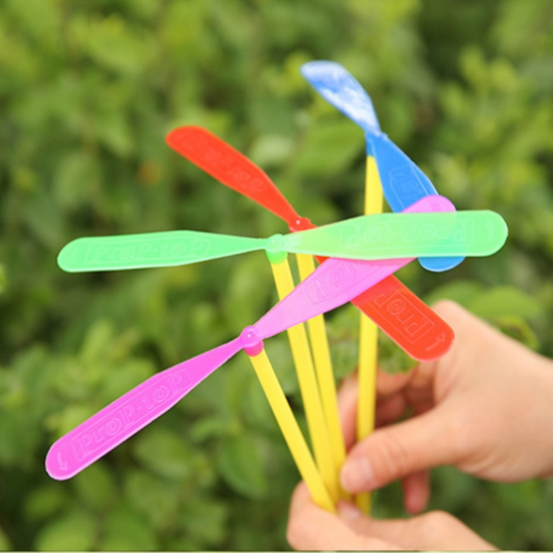 6PCS Plastic Dragonfly Assortment Mini Whirl A Copter Helicopter Gift Toys Birthday Pinata Fillers B