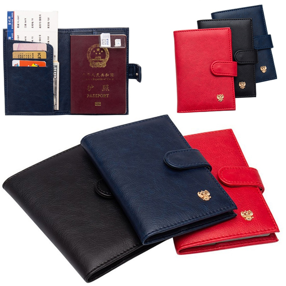 PU Leather Passport Holder Auto Driver License Bag Buckle Passport Wallet Cover For Car Driving Documents Card Credit Holder passport cover genuine leather driver license bag crazy horse leather car driving document credit card holder purse wallet case