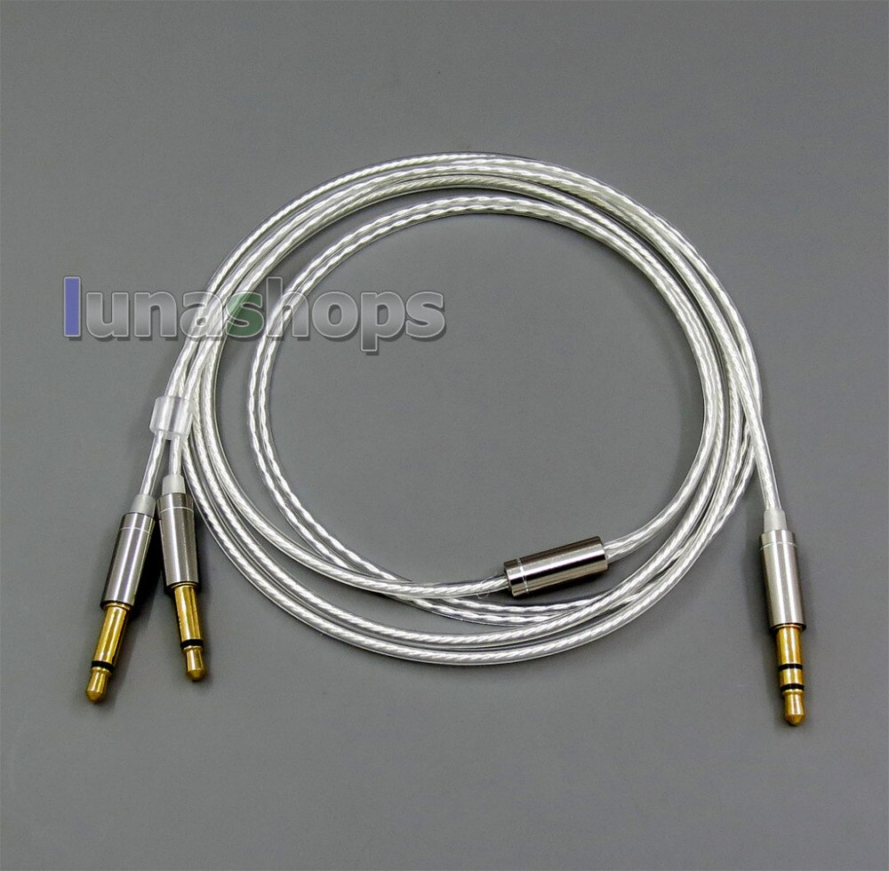 Pure Silver Plated Cable for Final Audio vi Iriver AK T1P Denon AH-D600 D7100 Velodyne vTrue LN006067