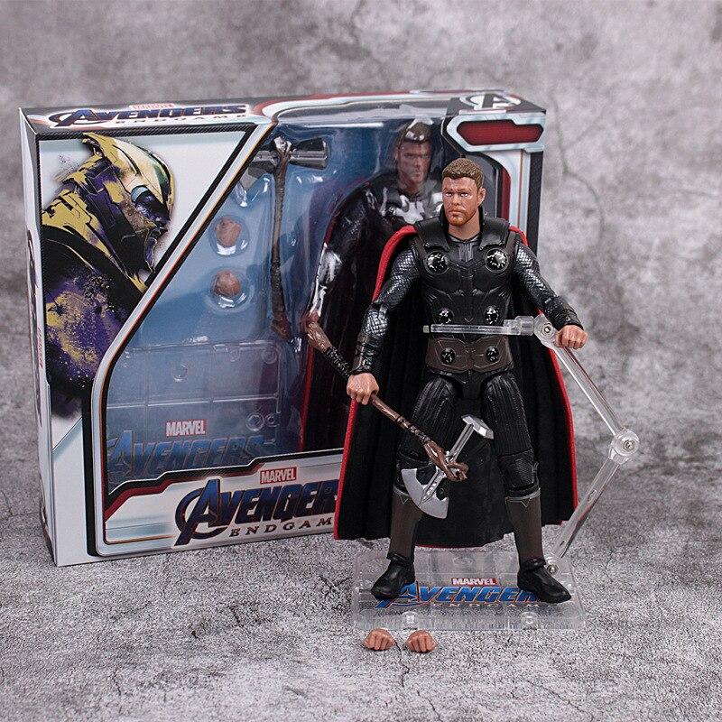 17cm Avengers Endgame Thor Captain America Captain Marvel War Machine Action figure toys doll Christmas gift with box