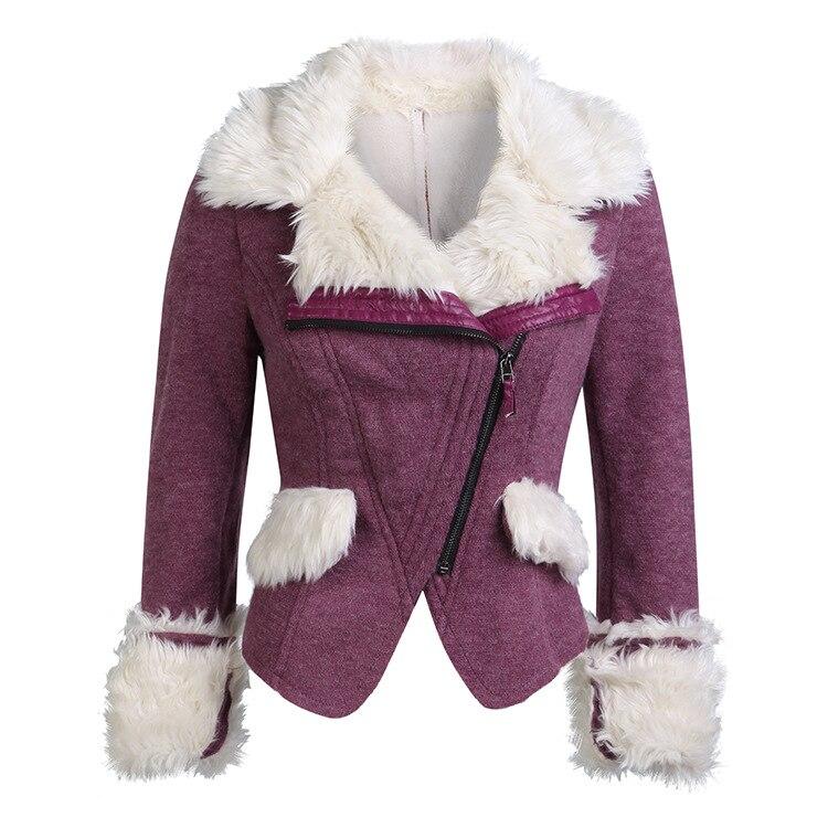 Casaco de inverno feminino locomotiva plus size 3xl veludo cordeiro casaco de pele pele de carneiro falso cashmere casacos jaqueta camurça sx05