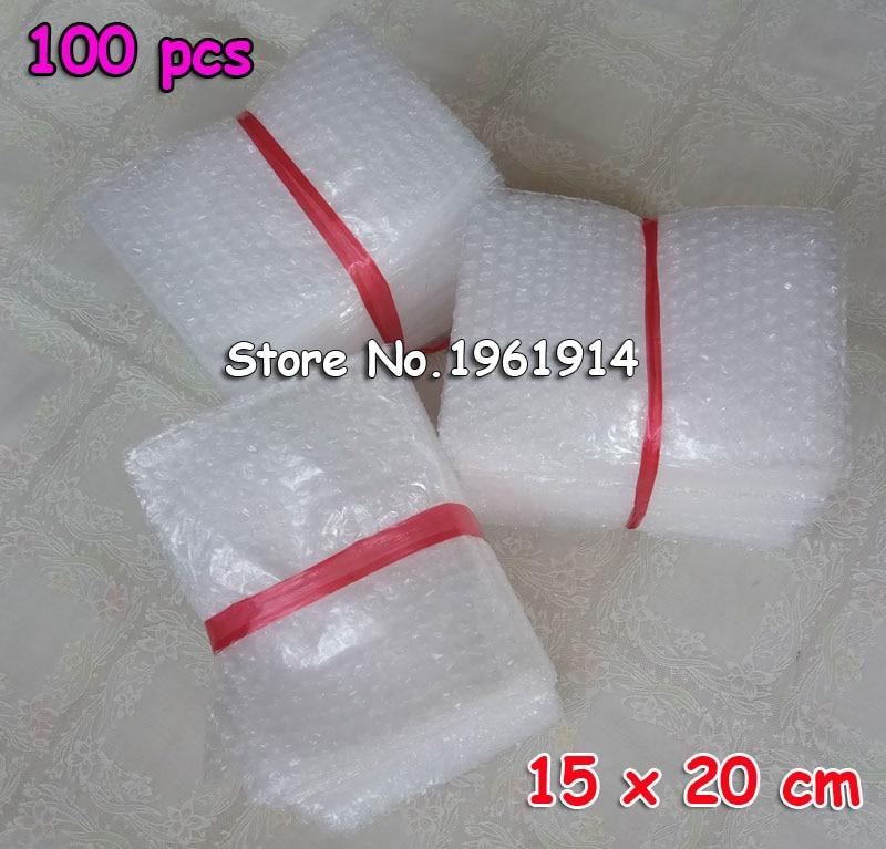 100 Uds 8*10cm 10*15cm, 150x200mm bolsas tipo sobre de burbujas para envolver bolsas de embalaje PE Mailer Paquete de embalaje de envío gratis