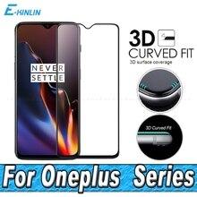 Protector de pantalla película protectora resistente para One Plus OnePlus Nord 8 Pro 7T 7 6T 6 5T 5 cubierta completa 3D borde curvado Vidrio Templado