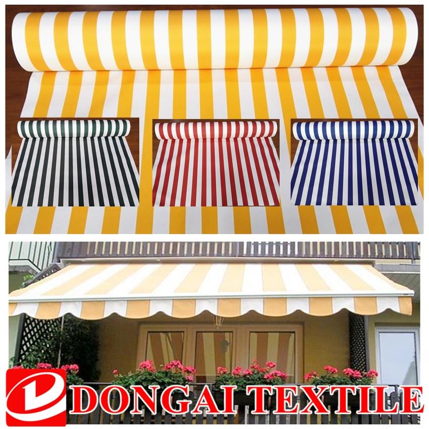 Tela oxford teñida de hilo de 1M * 1,5 M, tela a rayas colorida impermeable para tejido de dosel. Sombrilla, toldo, cochera. Tejido para sillas de playa