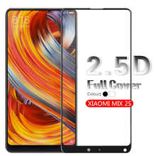 2.5D Arc Full Cover Tempered Glass Film For Xiaomi MIX 2S Screen Protector Glass Front Cover Film Glass White & Black Cover