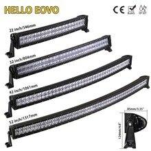 HALLO EOVO 22 32 42 52 zoll Curved LED Light Bar LED Bar Arbeit Licht für Fahren Offroad Auto Traktor lkw 4x4 SUV ATV 12V 24V