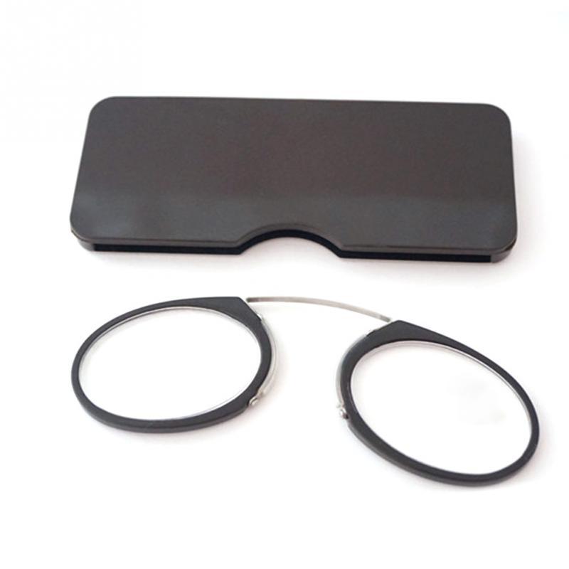 Pitada nariz leitura luxo óculos de luz presbiopia eyewear masculino com estojo