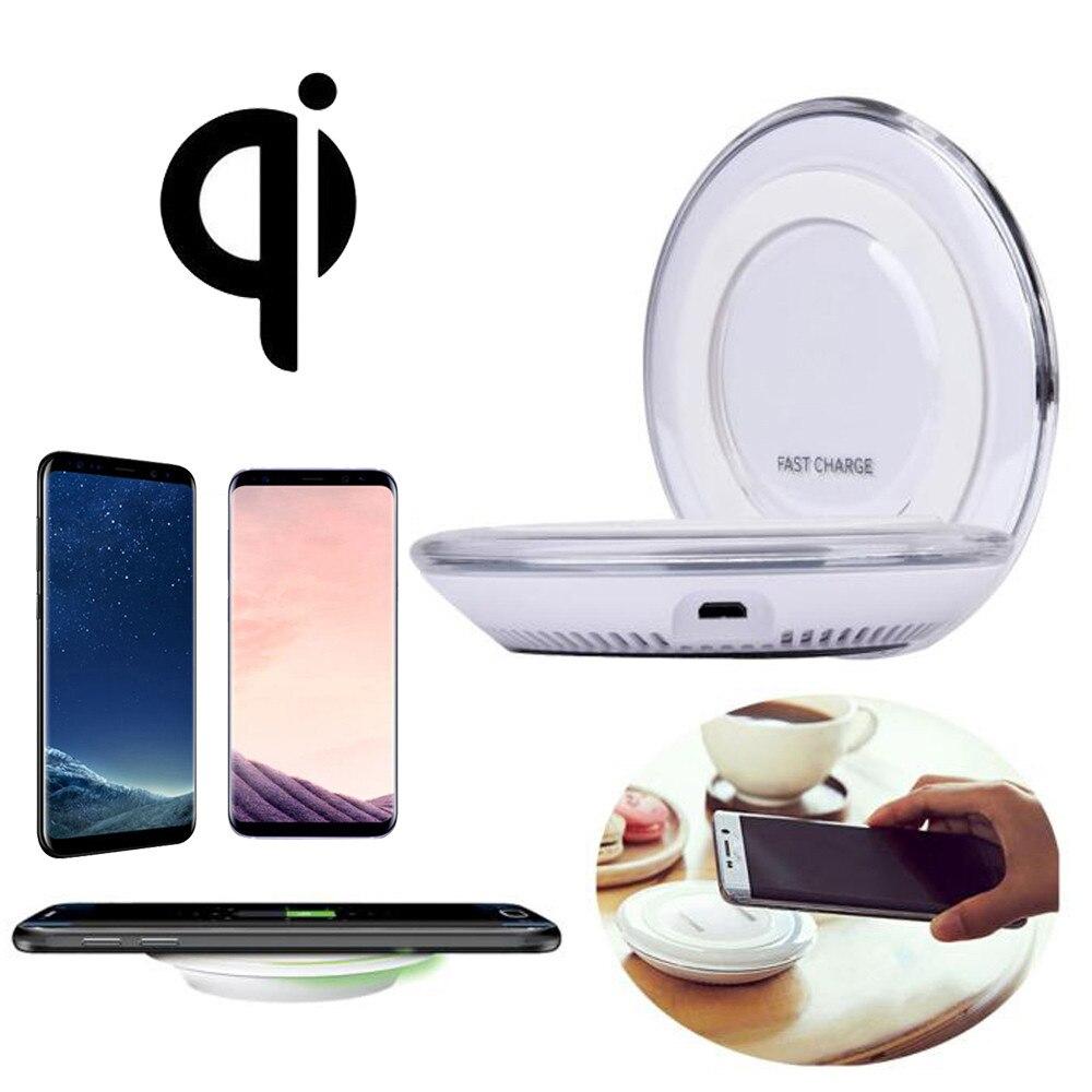Cargador inalámbrico Qi de carga rápida Pad para Samsung Galaxy S8/S8 Plus cargador Usb carga rápida Carga inalámbrica @ tn