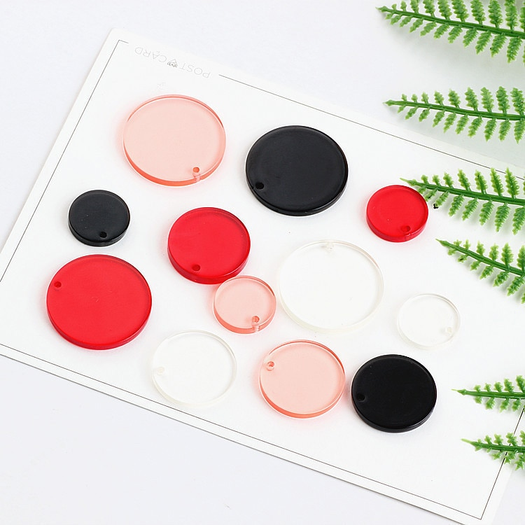 10 pièces mode japon et corée du sud Harajuku vent cercle rond boucles doreilles pour femmes fille pendentif bricolage bijoux faits à la main accessoires