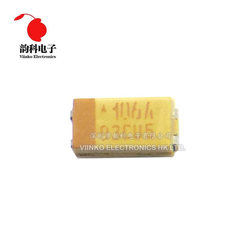 10 Uds 3216 10uF 10V SMD condensador de tantalio