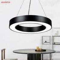 Modern Black Metal Led Pendant Light Minimalism Pendant Fixtures Luminaria Lampares Led Hanging Light Suspension Lamp