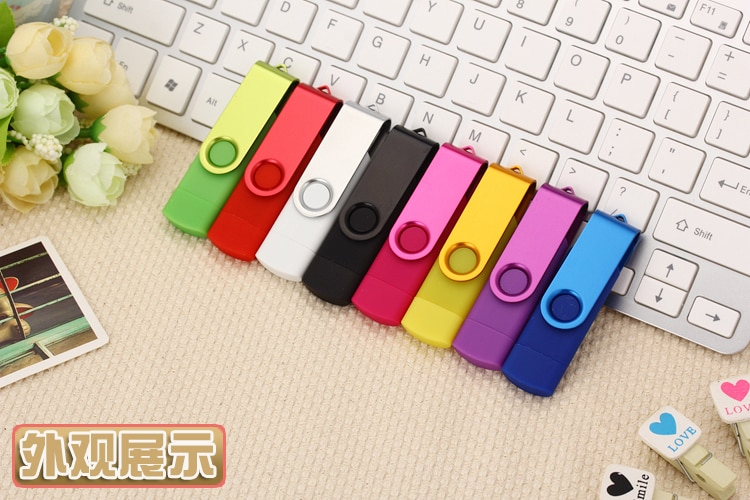 Mix color wholesale USB Flash Drive 16gb pendrive OTG Smart Phone 4gb Flash Drive 16gb cle usb 32gb USB Flash Drive 50PSC/1bag