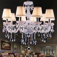 Moderno LED Bianco Luci Lampadario di Cristallo Lampada Per Soggiorno Luce Plafoniera Lampada A Sospensione Interna Decorativo