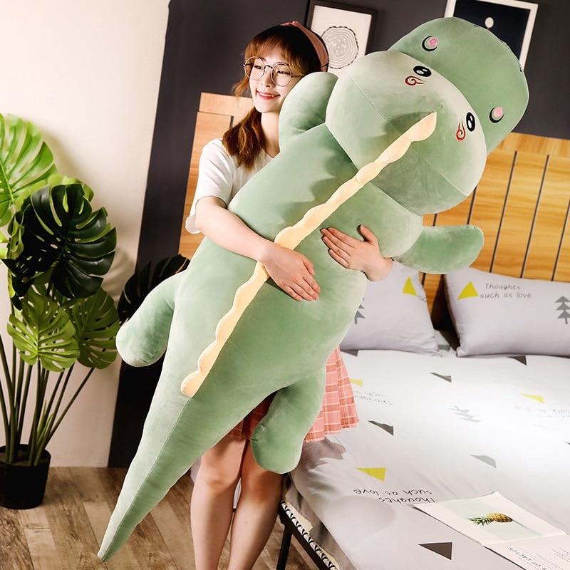 Big Size Long Lovely Dinosaur Plush Toy Soft Cartoon Animal Dinosaur Stuffed Doll Boyfriend Pillow Kids Girl Birthday Gift